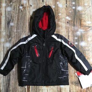 Toddler Puff Black Jacket